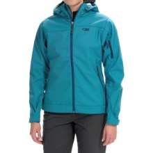 Outdoor Research Transfer Jacket - Soft Shell (For Women) in Alpine Lake/Abyss/Pool - Closeouts