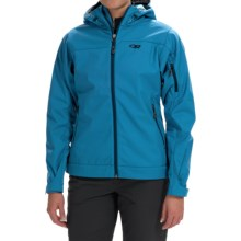 Outdoor Research Transfer Jacket - Soft Shell (For Women) in Cornflower - Closeouts