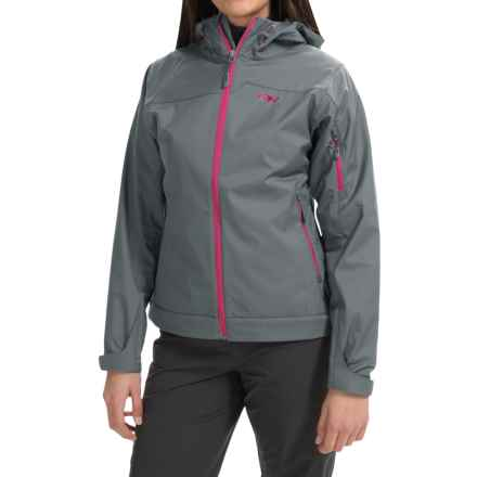 Outdoor Research Transfer Jacket - Soft Shell (For Women) in Pewter/Desert Sunrise - Closeouts