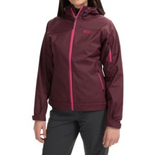Outdoor Research Transfer Jacket - Soft Shell (For Women) in Pinot - Closeouts
