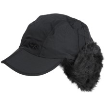 Outdoor Research Trapper Hat - Faux-Fur Lined (For Women) in Black - Closeouts