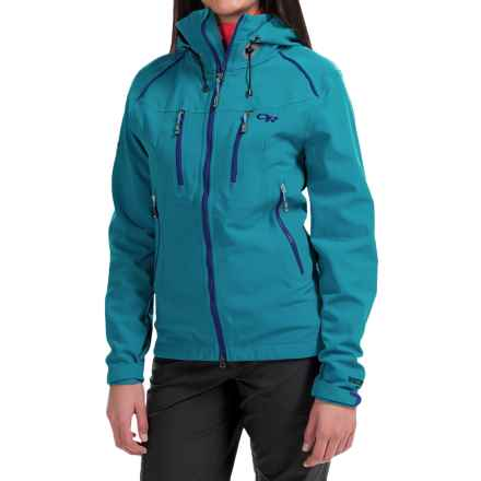 Outdoor Research Valhalla Windstopper® Jacket (For Women) in Alpine Lake/Abyss - Closeouts