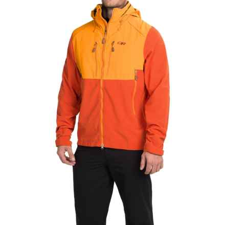 Outdoor Research Valhalla Windstopper® Ski Jacket (For Men) in Diablo/Supernova - Closeouts