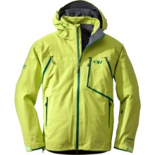 Outdoor Research Vanguard Gore-Tex® Jacket - Waterproof (For Men) in Lemongrass/Flash - Closeouts