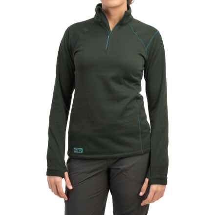 Outdoor Research Vanquish Fleece Shirt - Zip Neck, Long Sleeve (For Women) in Black - Closeouts