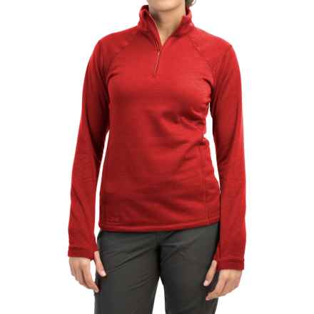 Outdoor Research Vanquish Fleece Shirt - Zip Neck, Long Sleeve (For Women) in Flame - Closeouts