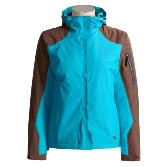 Outdoor Research Varia Jacket - Waterproof (For Women) in Sky/Espresso