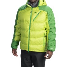 Outdoor Research Virtuoso Down Jacket - 650 Fill Power (For Men) in Lemongrass/Dark Flash - Closeouts