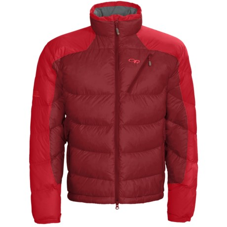 Outdoor Research Virtuoso Down Jacket - 650 Fill Power (For Men) in Redwood/Hot Sauce