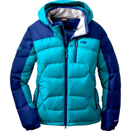 Outdoor Research Virtuoso Down Jacket - 650 Fill Power (For Women) in Alpine Lake/Abyss