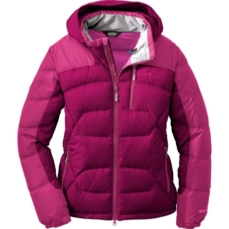 Outdoor Research Virtuoso Down Jacket - 650 Fill Power (For Women) in Mulberry/Desert Sunrise