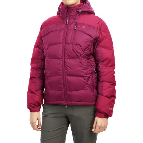 Outdoor Research Virtuoso Down Jacket - 650 Fill Power (For Women) in Sangria/Desert Sunrise