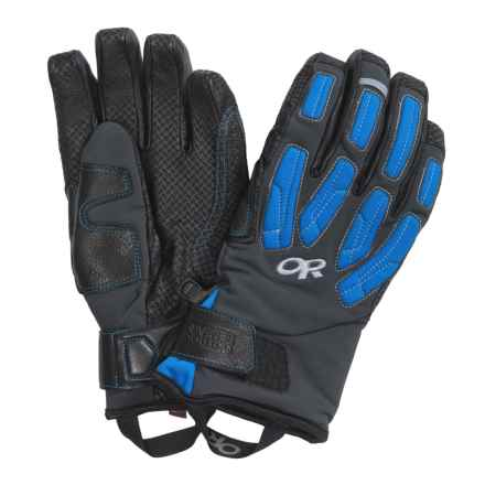 Outdoor Research Warrant Gore-Tex® Gloves - Waterproof, Insulated (For Men) in Black/Glacier - Closeouts
