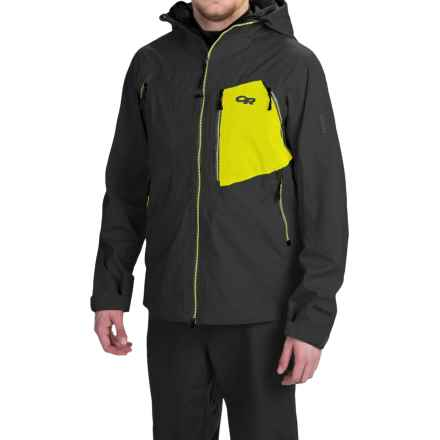 Outdoor Research White Room Gore-Tex® Jacket - Waterproof (For Men) in Black/Lemongrass - Closeouts