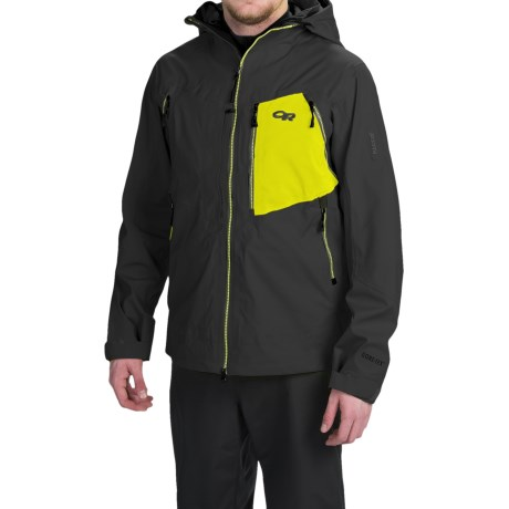 Outdoor Research White Room Gore-Tex® Jacket - Waterproof (For Men) in Black/Lemongrass
