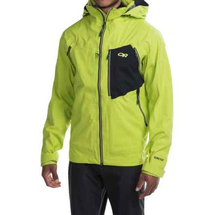 Outdoor Research White Room Gore-Tex® Jacket - Waterproof (For Men) in Lemongrass/Black - Closeouts