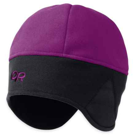Outdoor Research Windwarrior Beanie - Windstopper® Fleece (For Men and Women) in Orchid/Black - Closeouts