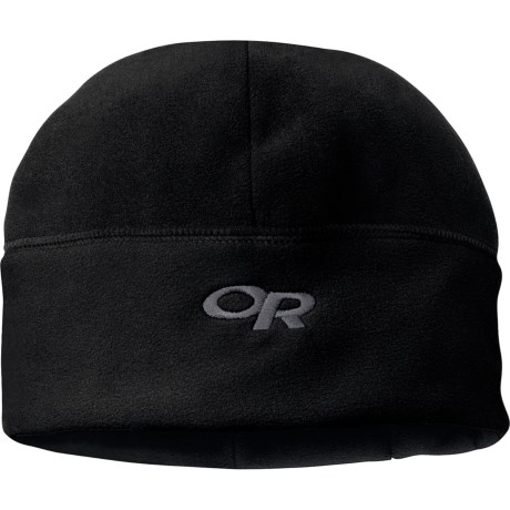 Outdoor Research Wintertrek Windstopper® Beanie Hat (For Men and Women) in Black