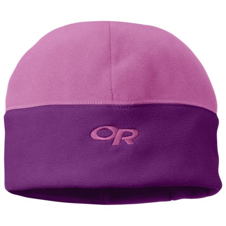 Outdoor Research Wintertrek Windstopper® Beanie Hat (For Men and Women) in Crocus/Orchid