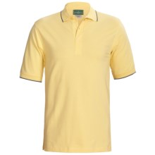 Outer Banks Active Pinpoint Pique Polo Shirt - Short Sleeve (For Men) in Butter/Navy/Bimini Blue - Closeouts