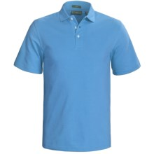 Outer Banks Cool-DRI® Performance Polo Shirt - Cotton Blend, Short Sleeve (For Men) in Aquatic Blue - Closeouts