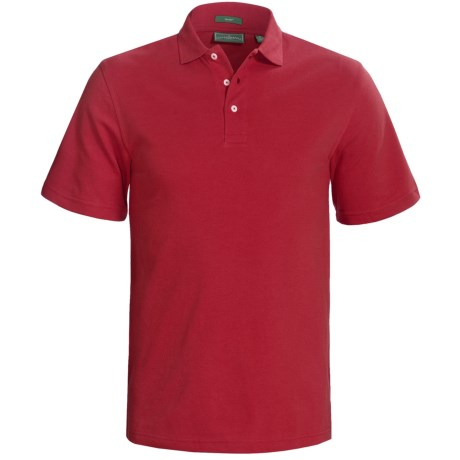 Outer Banks Cool-DRI® Performance Polo Shirt - Cotton Blend, Short Sleeve (For Men) in Bright Red