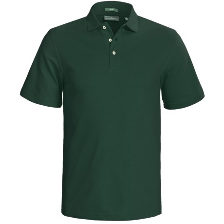 Outer Banks Cool-DRI® Performance Polo Shirt - Cotton Blend, Short Sleeve (For Men) in Orange Spice
