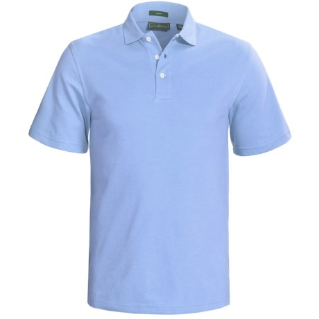 Outer Banks Cool-DRI® Performance Polo Shirt - Cotton Blend, Short Sleeve (For Men) in Aquatic Blue