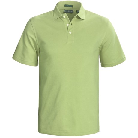 Outer Banks Cool-DRI® Performance Polo Shirt - Cotton Blend, Short Sleeve (For Men) in Spring Green