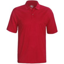 Outer Banks Cool-DRI® Textured Performance Polo Shirt - Short Sleeve (For Men) in Bright Red - Closeouts