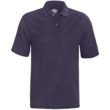 Outer Banks Cool-DRI® Textured Performance Polo Shirt - Short Sleeve (For Men) in Navy - Closeouts