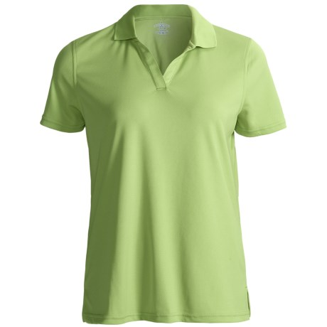Outer Banks Cool-DRI® Textured Performance Polo Shirt - Short Sleeve (For Women) in Spring Green