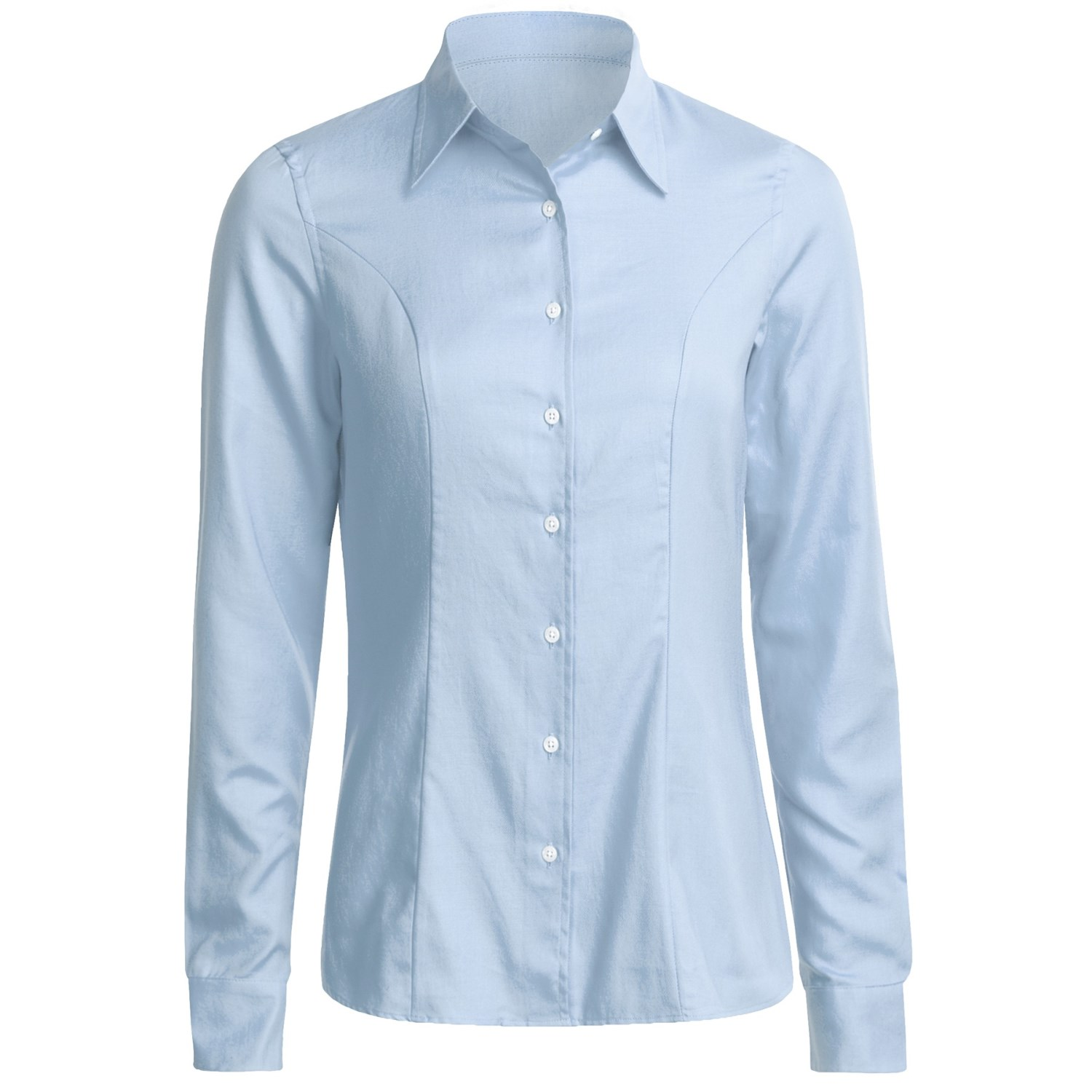 Creative  Short Sleeve Women39s Light Blue Oxford Executive ButtonDown Shirt