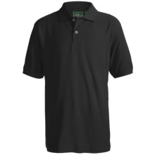Outer Banks Essential Blended Pique Polo Shirt - Short Sleeve (For Youth) in Black - Closeouts