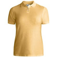 Outer Banks Essential Blended Pique Polo Shirt - Wrinkle Resistant, Short Sleeve (For Women) in Butter - Closeouts