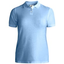 Outer Banks Essential Blended Pique Polo Shirt - Wrinkle Resistant, Short Sleeve (For Women) in Light Blue - Closeouts