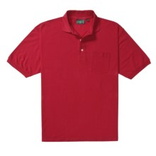 Outer Banks Essential Polo Shirt - Cotton Pique, Short Sleeve (For Men) in Bright Red - Closeouts