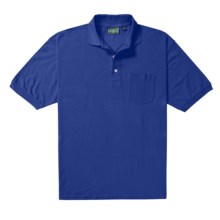 Outer Banks Essential Polo Shirt - Cotton Pique, Short Sleeve (For Men) in Bright Royal - Closeouts