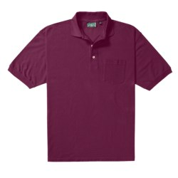 Outer Banks Essential Polo Shirt - Cotton Pique, Short Sleeve (For Men) in Bright Red