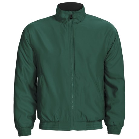 Outer Banks Peached Microfiber Jacket - Fleece Lining (For Men and Women) in Pine Green/Dark Grey Fox
