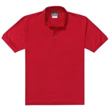 Outer Banks Pima Pique Polo Shirt - Double Mercerized, Short Sleeve (For Men) in Bright Red - Closeouts