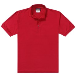 Outer Banks Pima Pique Polo Shirt - Double Mercerized, Short Sleeve (For Men) in Bimini Blue