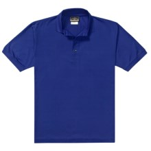 Outer Banks Pima Pique Polo Shirt - Double Mercerized, Short Sleeve (For Men) in Cobalt - Closeouts