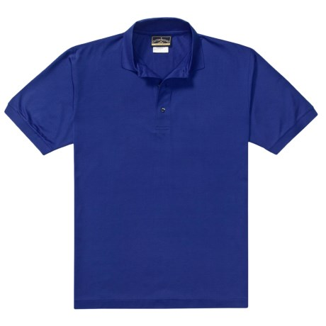 Outer Banks Pima Pique Polo Shirt - Double Mercerized, Short Sleeve (For Men) in Cobalt