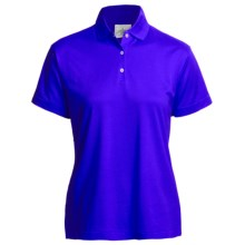 Outer Banks Polo Shirt - Mercerized Pima Pique Cotton, Short Sleeve (For Women) in Cobalt - Closeouts