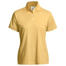 Outer Banks Polo Shirt - Mercerized Pima Pique Cotton, Short Sleeve (For Women) in Maize - Closeouts