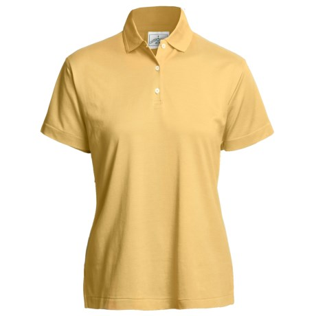 Outer Banks Polo Shirt - Mercerized Pima Pique Cotton, Short Sleeve (For Women) in Maize