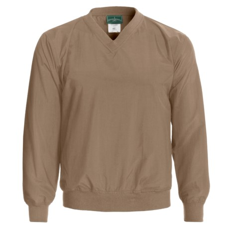 Outer Banks Rib V-Neck Wind Shirt - Long Sleeve (For Men and Women) in Chino