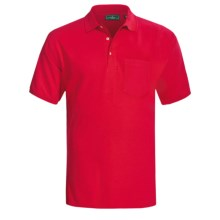 Outer Banks Ultimate Cotton Polo Shirt - Pocket, Short Sleeve (For Men) in Bright Red - Closeouts