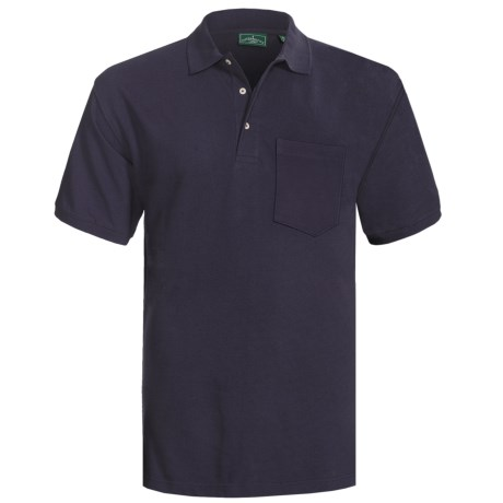Outer Banks Ultimate Cotton Polo Shirt - Pocket, Short Sleeve (For Men) in Bright Red